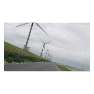 Wind Turbines Road Ahead Photo Card Business Card Template