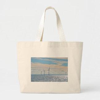 Wind Turbines Tote Bags
