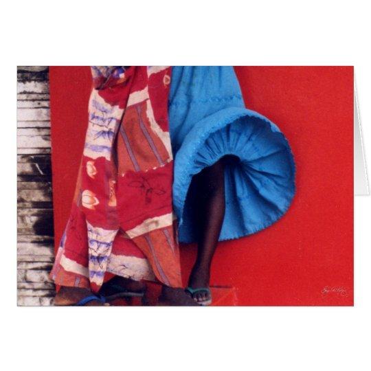 Windblown Skirt Card