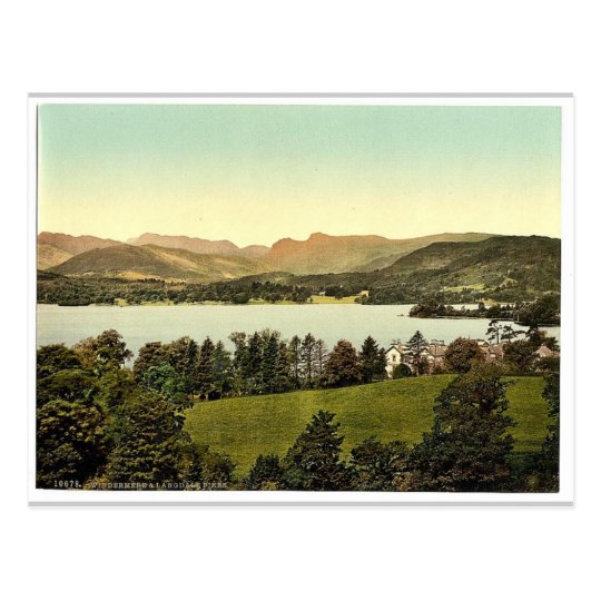 Windermere and Langdale Pikes, Lake District, Engl Postcard