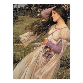 WiNDFLoWERS, by John William Waterhouse, 1902 Postcard