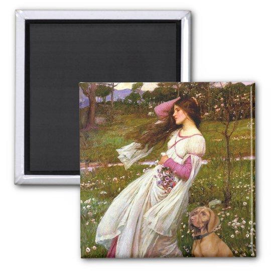 Windflowers - Vizsla 2 Square Magnet