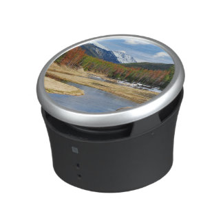 Winding Colorado River With Mountains and Pines Bluetooth Speaker