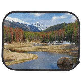 Winding Colorado River With Mountains and Pines Car Mat