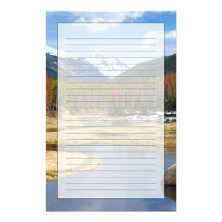 Winding Colorado River With Mountains and Pines Customized Stationery