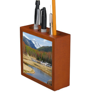 Winding Colorado River With Mountains and Pines Desk Organiser