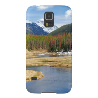 Winding Colorado River With Mountains and Pines Galaxy S5 Covers