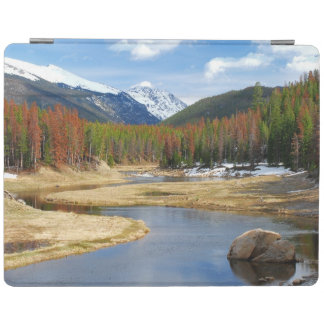 Winding Colorado River With Mountains and Pines iPad Cover
