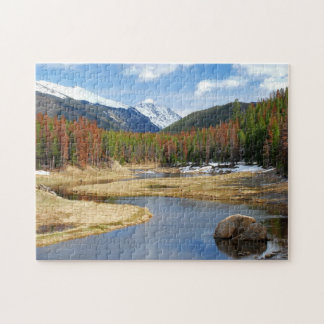 Winding Colorado River With Mountains and Pines Jigsaw Puzzle