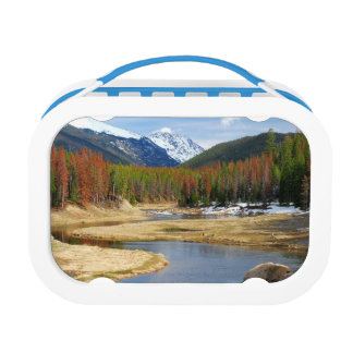 Winding Colorado River With Mountains and Pines Lunch Box