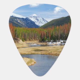 Winding Colorado River With Mountains and Pines Plectrum
