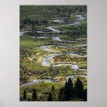 winding river in rmnp poster