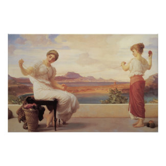 Winding the Skein - Lord Frederic Leighton Posters