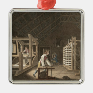 Winding, Warping with a New Improved Warping Mill Silver-Colored Square Decoration