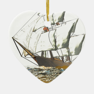 Windjammer Ceramic Heart Decoration