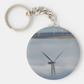 Windmill Above the Fog Basic Round Button Key Ring