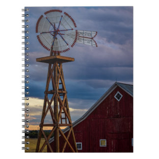 Windmill and Barn Spiral Notebook