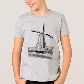 Windmill and Boat Kids T-Shirt