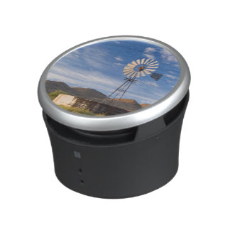 Windmill And Dam In The Karoo At Sunrise Bluetooth Speaker