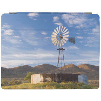 Windmill And Dam In The Karoo At Sunrise iPad Cover