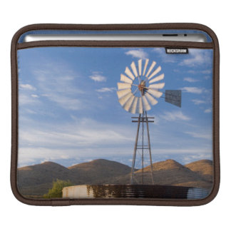 Windmill And Dam In The Karoo At Sunrise iPad Sleeves