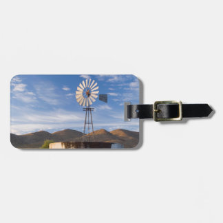 Windmill And Dam In The Karoo At Sunrise Luggage Tag