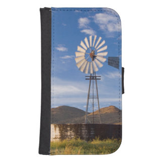 Windmill And Dam In The Karoo At Sunrise Samsung S4 Wallet Case