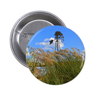 Windmill and grasses pin