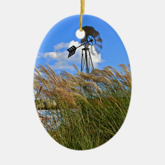 Windmill and grasses christmas tree ornaments