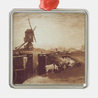 Windmill and Lock, engraved by William Say (1768-1 Christmas Ornament