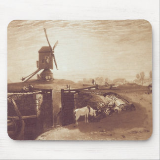 Windmill and Lock, engraved by William Say (1768-1 Mouse Mat