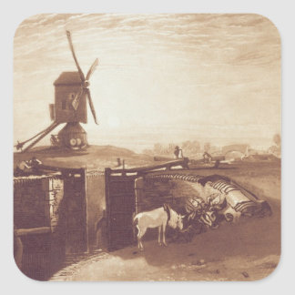 Windmill and Lock, engraved by William Say (1768-1 Square Sticker