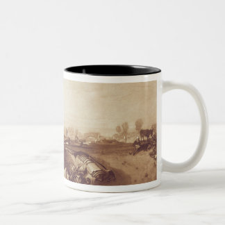 Windmill and Lock, engraved by William Say (1768-1 Two-Tone Coffee Mug