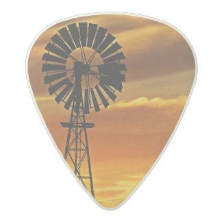 Windmill and Sunset, William Creek, Oodnadatta Acetal Guitar Pick