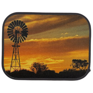 Windmill and Sunset, William Creek, Oodnadatta Car Mat