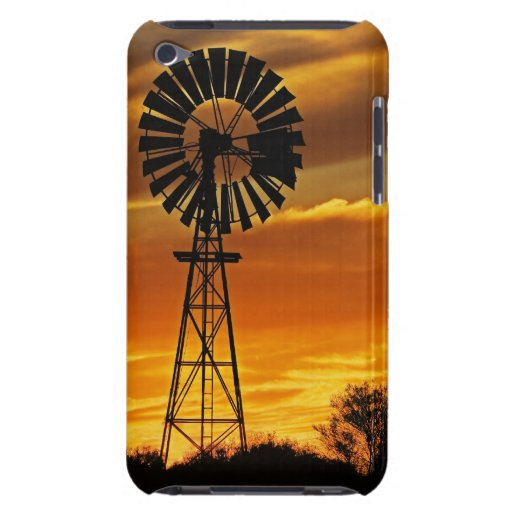 Windmill and Sunset, William Creek, Oodnadatta iPod Touch Cover