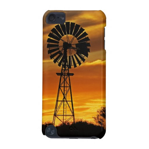 Windmill and Sunset, William Creek, Oodnadatta iPod Touch 5G Cases