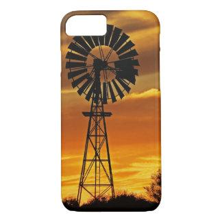 Windmill and Sunset, William Creek, Oodnadatta iPhone 8/7 Case