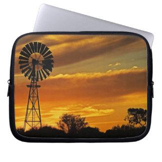 Windmill and Sunset, William Creek, Oodnadatta Laptop Sleeve