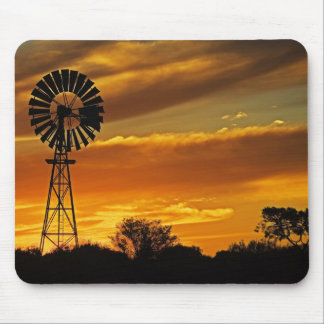 Windmill and Sunset, William Creek, Oodnadatta Mouse Mat