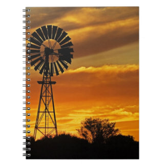 Windmill and Sunset, William Creek, Oodnadatta Notebook