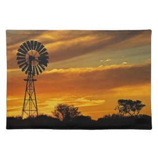Windmill and Sunset, William Creek, Oodnadatta Placemat