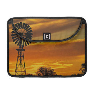 Windmill and Sunset, William Creek, Oodnadatta Sleeve For MacBook Pro