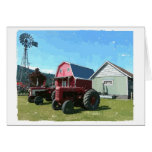 Windmill, Antique Tractors and Heritage Buildings Greeting Cards