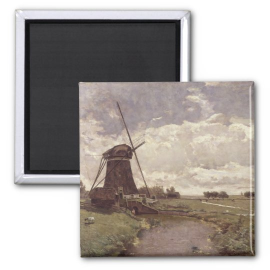 Windmill at Leidschendam Square Magnet