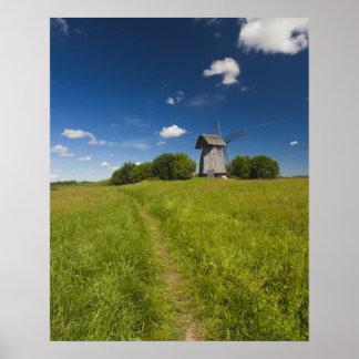 Windmill at Mikhailovskoye Poster