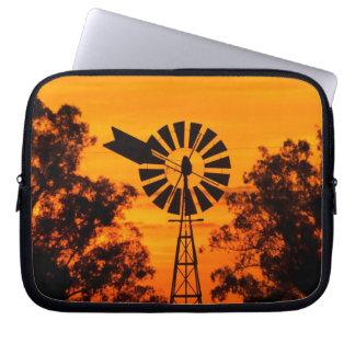 Windmill at Sunset, Australia Laptop Sleeve