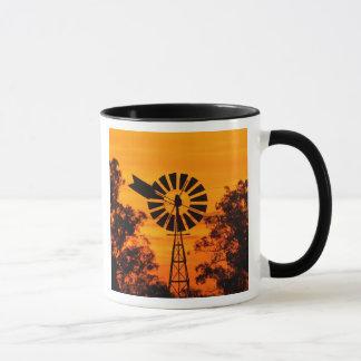 Windmill at Sunset, Australia Mug