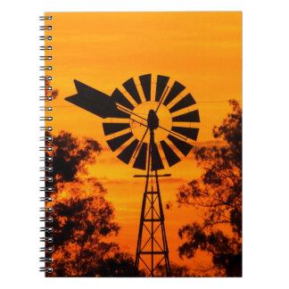 Windmill at Sunset, Australia Note Book