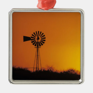 Windmill at sunset, Sinton, Texas, USA Christmas Ornament